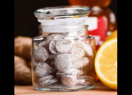 Make Your Own Healthy Lemon Ginger Cough Drops!