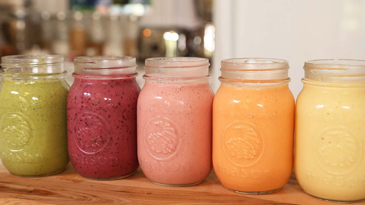 Healthy Breakfast Smoothie Recipes – A Whole Week Schedule!